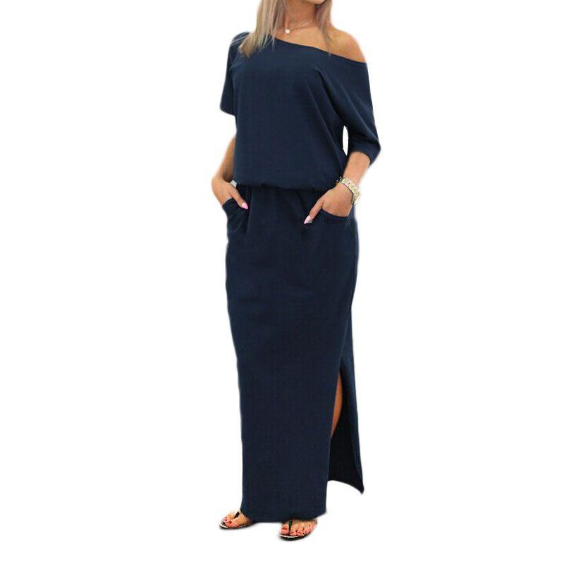 Promoción de Vestido Azul Marino Oscuro  - Compra Vestido Azul Marino Oscuro…