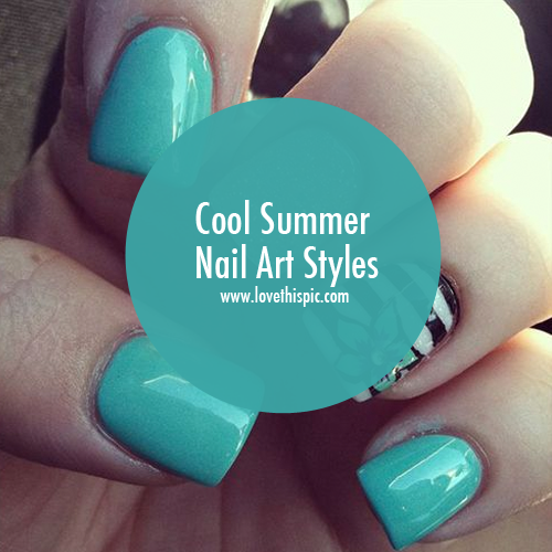 Cool Summer Nail Art Styles girly cute summer nails nail art summer nails nail designs