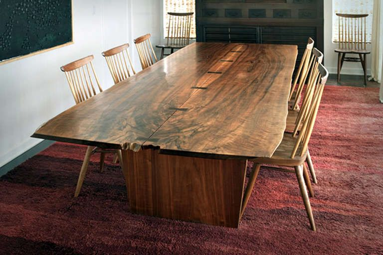 10 Ft Minguren Iii Dining Table By George Nakashima 1976 7 1stdibs Com Dining Room Table Dining Table Rustic 12 Person Dining Table