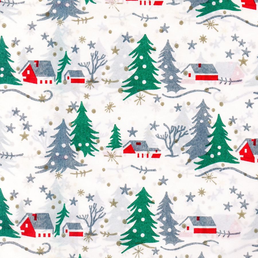 Mid century wrap (ii) … | Vintage christmas wrapping paper ...