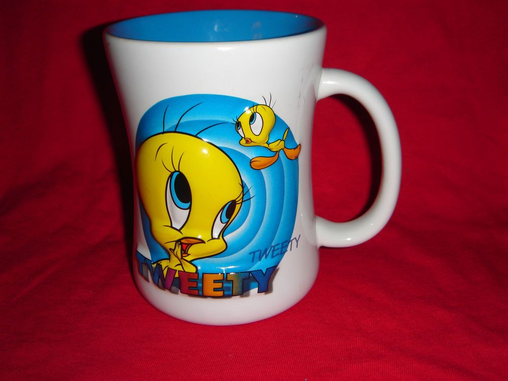 Tweety Bird Looney Tunes 3d Coffee Cup Mug Warner Bros Wb Six Flags Mugs Bird Cup Tweety