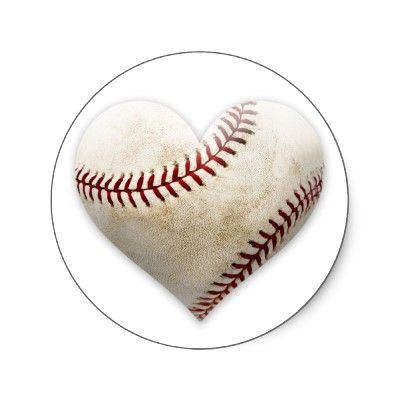 Baseball Heart Stickers