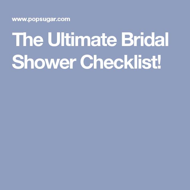 The Ultimate Bridal Shower Checklist  Bridal Shower