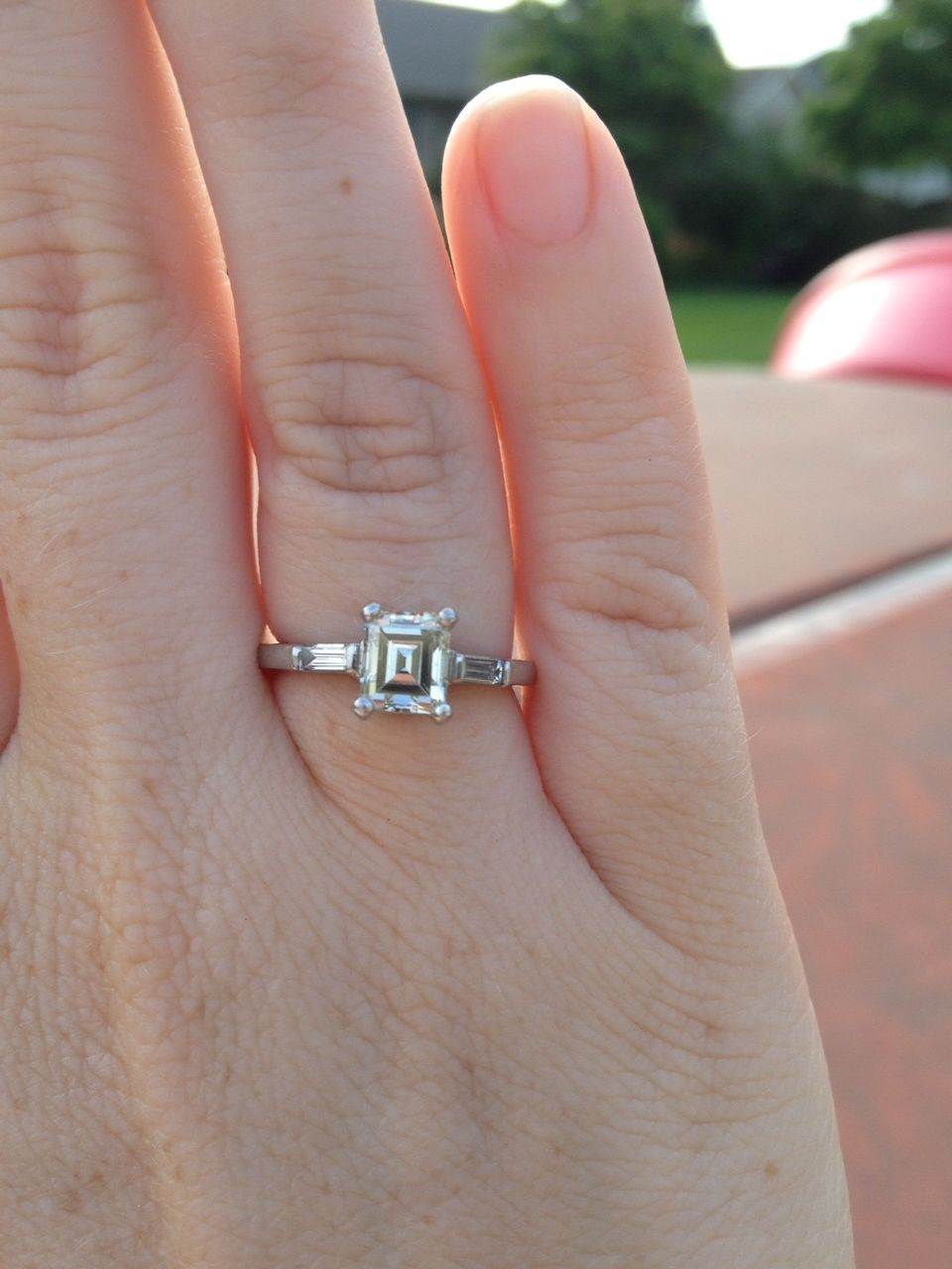 3 4 Carat Emerald Cut Diamond Ring Ring Rings Emerald Cut