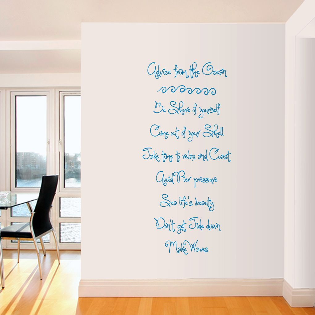 Advice From The Ocean   Wall Decals