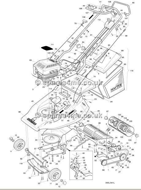 hayter harrier 56 serial code 341l001801 spare parts machine diagrams schematics shoulders of