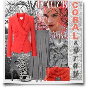 Coral & Gray Fashion