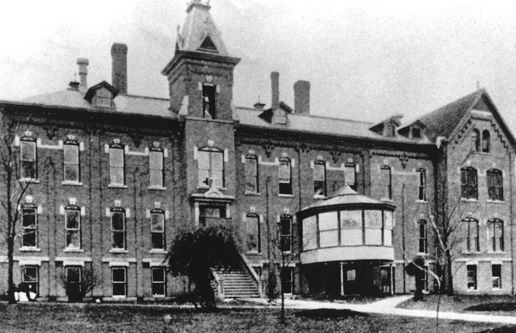 Undated view of St. Joseph's Hospital with the 1889
