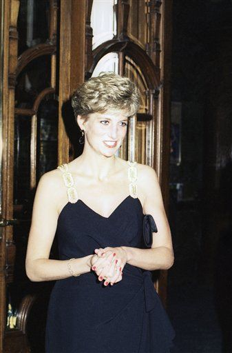 Britain's Princess Diana arrives at the Colosseum Theatre in London on June 24, 1991. (AP Photo)