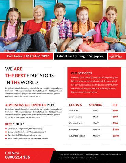 Education  Training Flyer Template Design Flyer Templates
