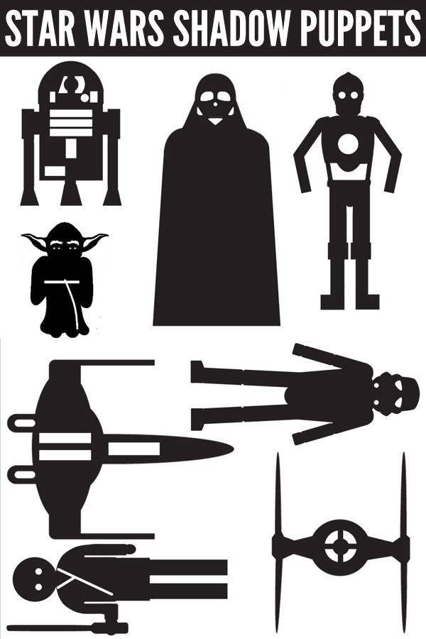 photo relating to Star Wars Printable Crafts known as Star Wars Video game Recommendations: Shadow Puppets Printable Do-it-yourself
