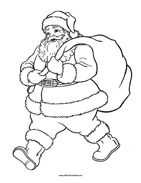 Santa Claus Coloring Page | Work Pins | Pinterest