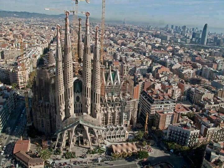 La Sagrada familia. Barcelona.