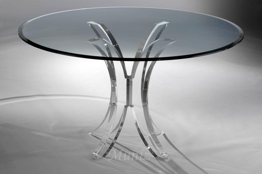 Muniz Plastics Inc Dining Table Metal Round Dining Table