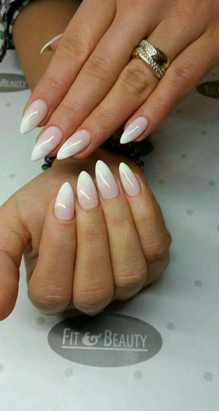 Baby boomer ombre nails