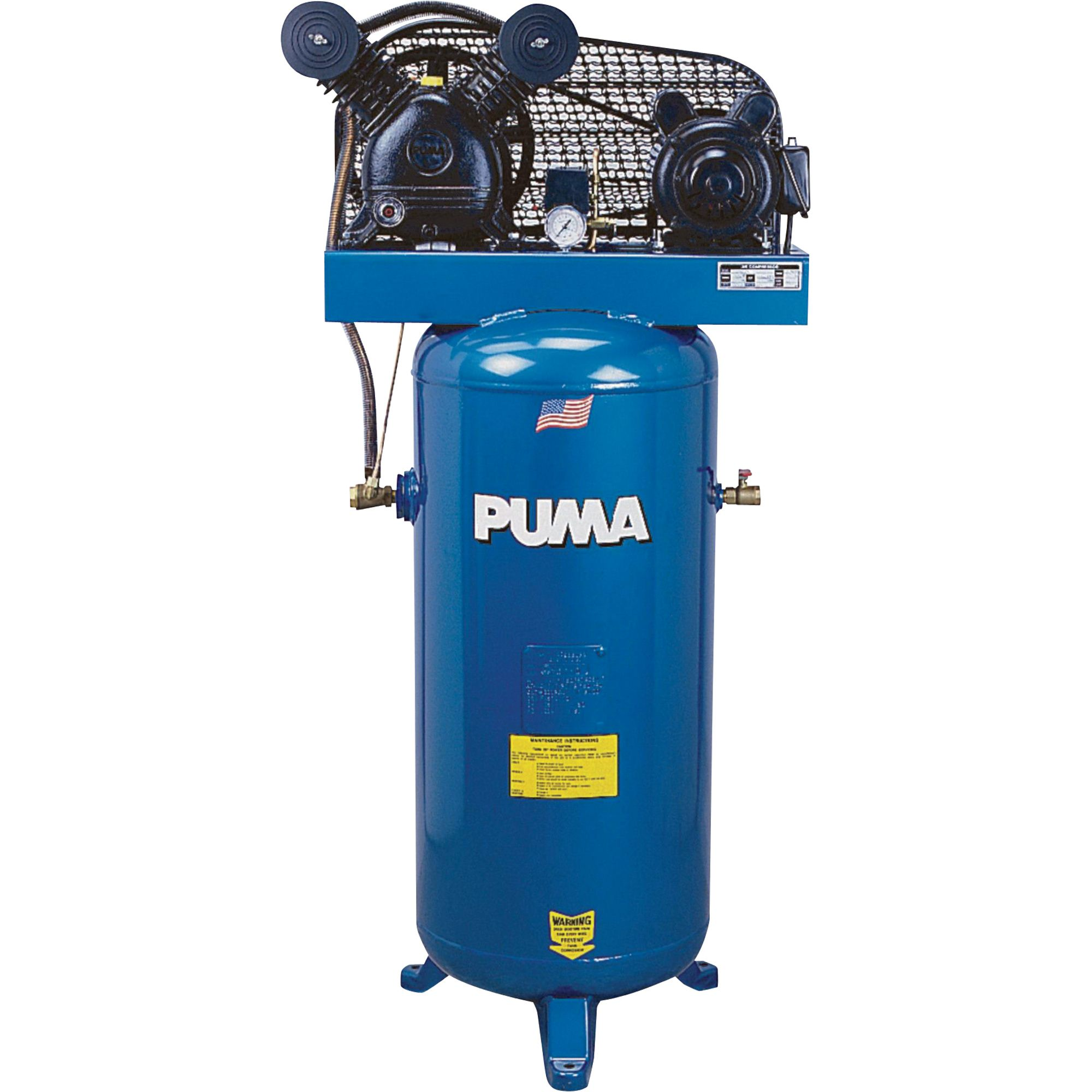 Puma Belt Drive Stationary Vertical Air Compressor 60 Gallon