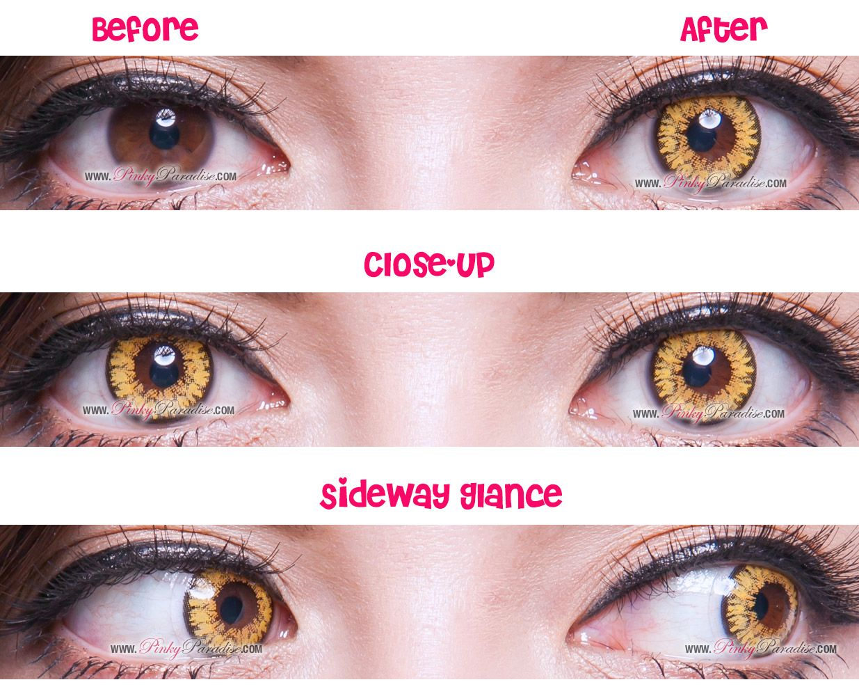 Princess Pinky Twilight Brown View | Yellow Contact Lenses ...