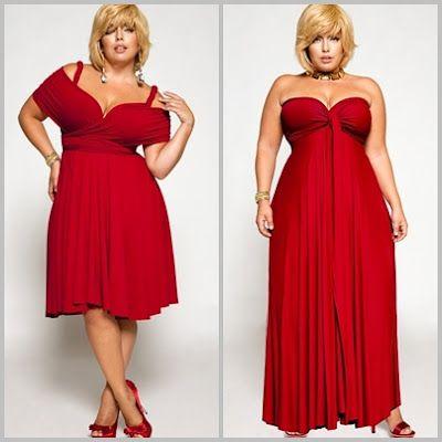 Vestidos rojos largos gorditas