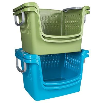 Stackable Laundry Baskets Open Stackable Baskets Are Great For Summer And Sports Gear