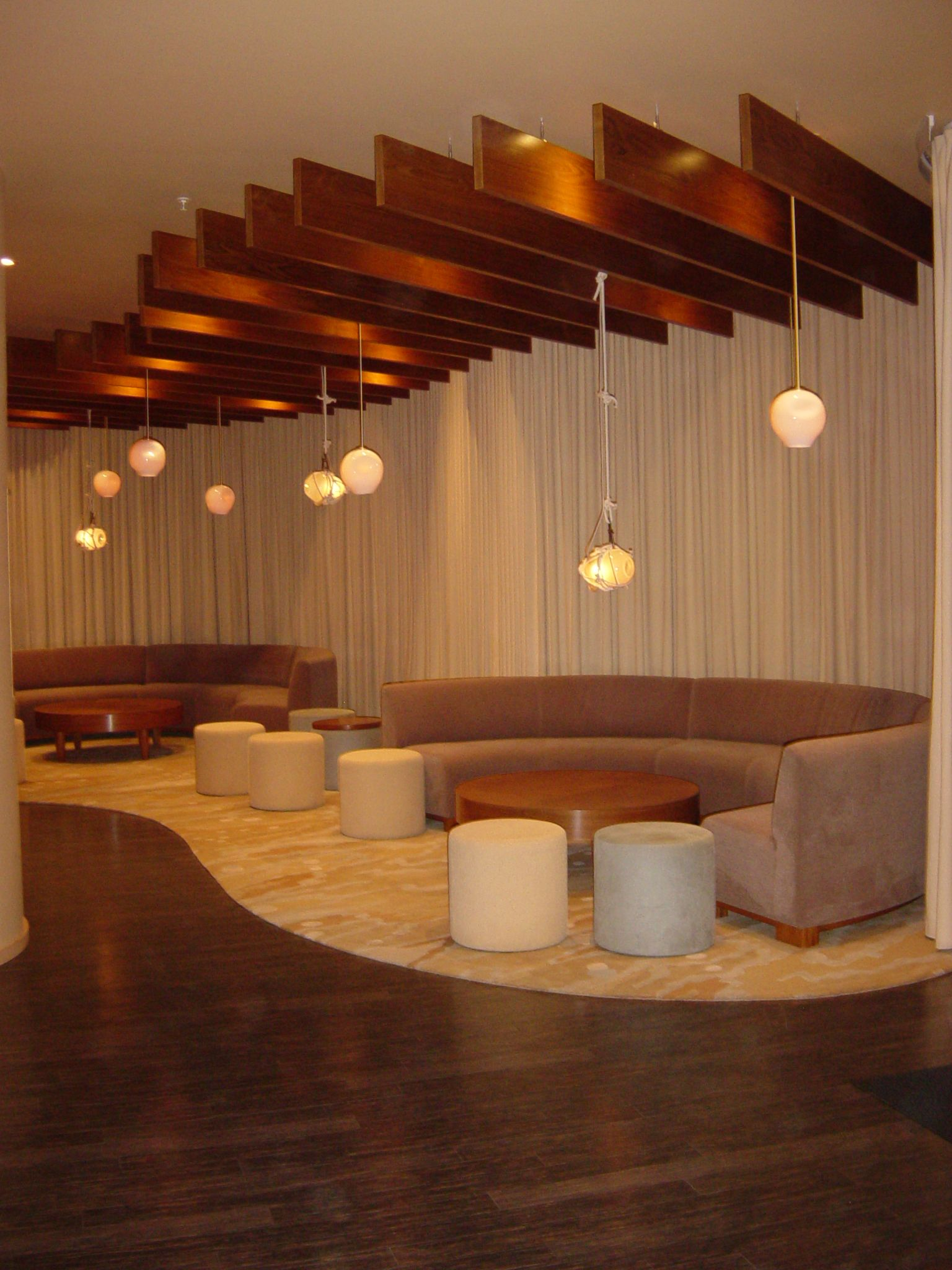 acoustical cloud panels images - this is a cool look with the
