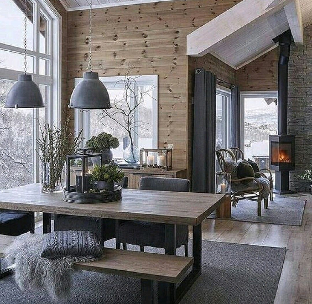 modern rustic lodge style interior design for the home pinterest