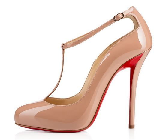 christian louboutin ditassima 120 patent leather t bar pumps