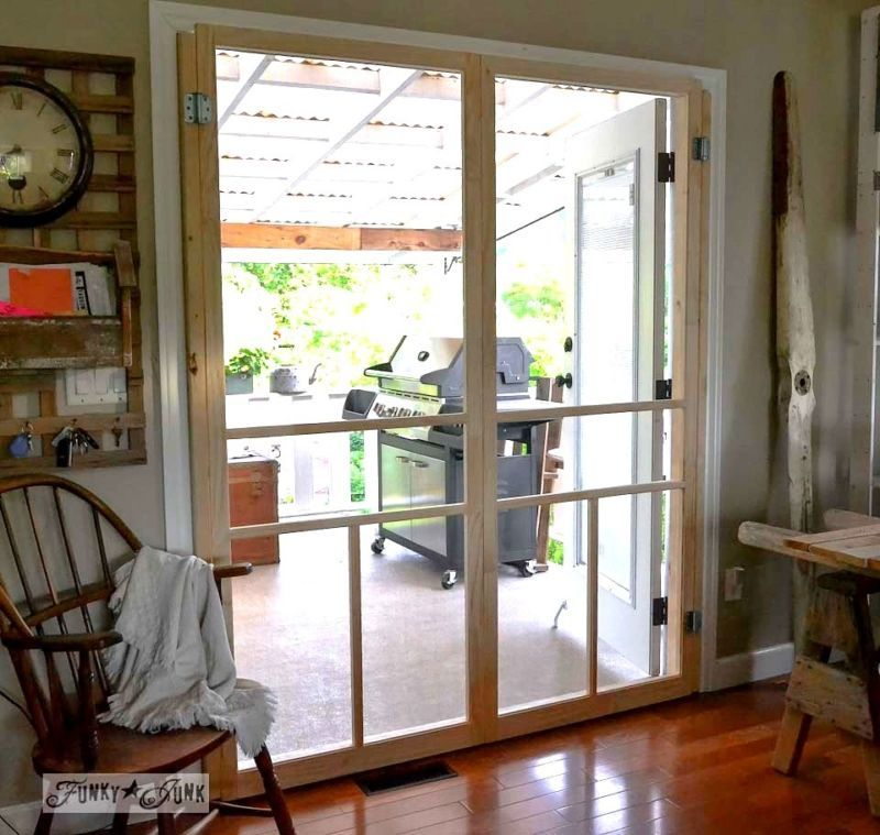 French Doors With Screens, Diy