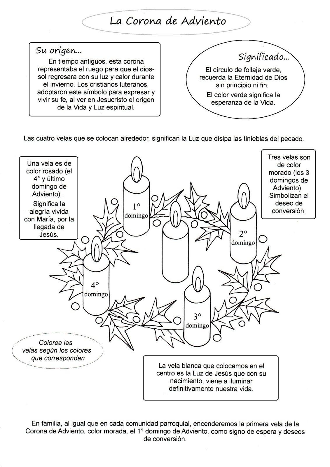 Sencilla explicación de la Corona de Adviento | Proyectos a intentar ...