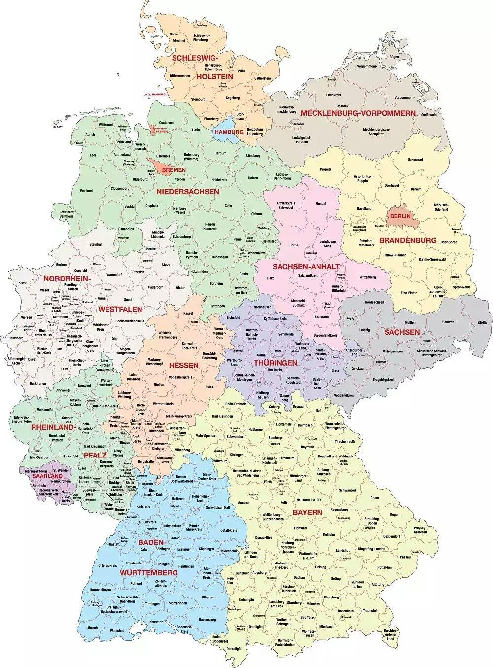 deutschland karte kostenlos Pin von Rubem Costa auf Nemecko | Visitenkarten, Karte deutschland