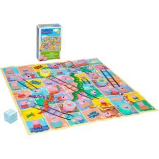 Peppa Pig Giant Snakes And Ladders Game At Argos Co Uk Peppa Pig Toys Ladders Game Giant Snake
