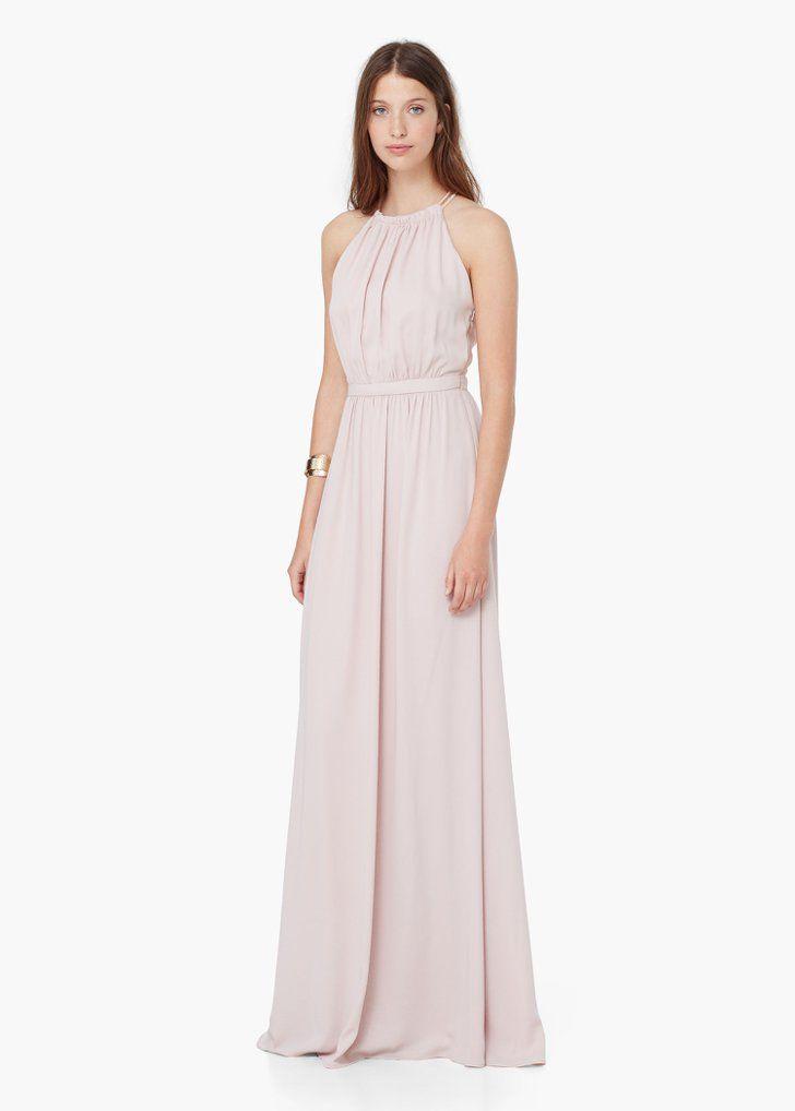 Pin for Later: 50 elegante, bodenlange Abendkleider unter 100 € Mango langes  Neckholder Kleid in rosa (100 €)