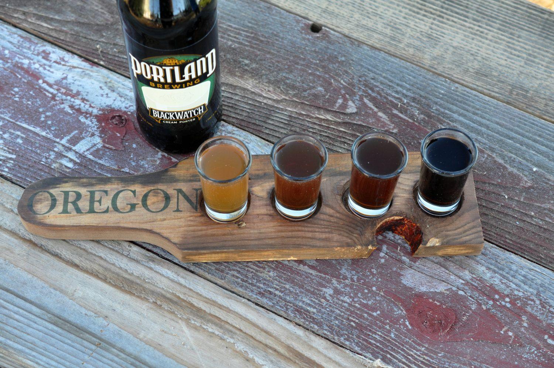 Wwwreclaimedoregonetsycom Beer Tasting Tray Beer Flight Tray
