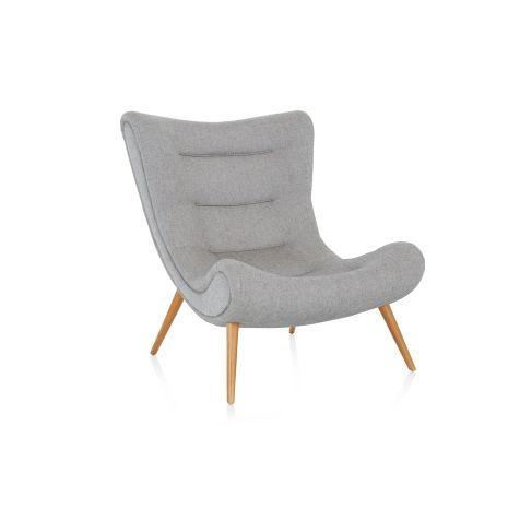 Design-Sessel, Salz- und Pfeffermuster, Retro-Look Vorderansicht ...