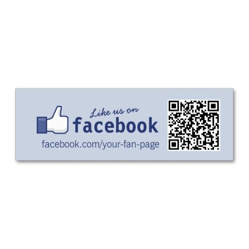 Qr code facebook like mini business card tarjetas de presentacin qr code facebook like mini business card colourmoves