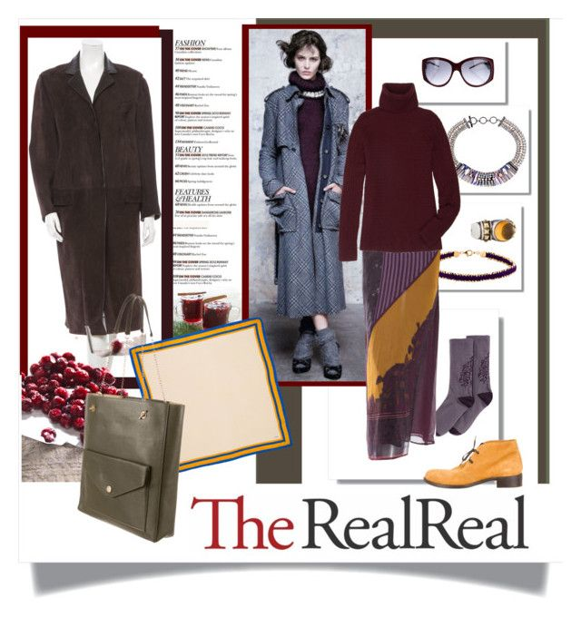 """Fall Style With The RealReal: Contest Entry"" by ellathrasha ❤ liked on Polyvore featuring Hue, Hermès, Astley Clarke, Iosselliani, Etro, The Row, Chanel, Roberto Cavalli, Bottega Veneta and CÉLINE"