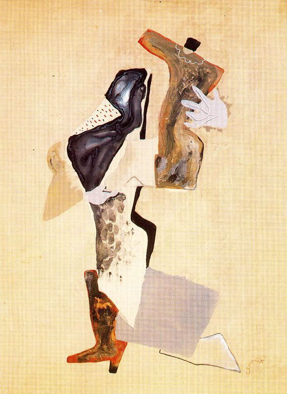 Enrique Climent - Bailarina 1929 - 1931. Técnica mixta sobre paper. 64.2 x 46.7 cm. Colección Isabel Climent. Barcelona. España.