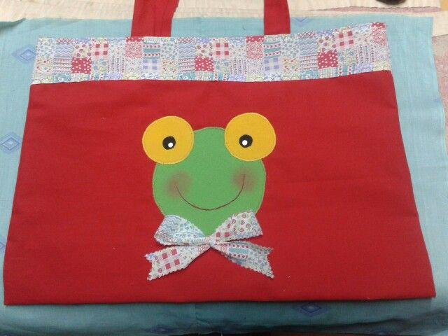 Bolsa para carpeta de jardin de infantes creaciones for Azul naranja jardin de infantes