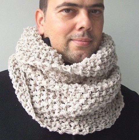 Chunky Cowl Scarf Knitting Pattern Digital Knitting PATTERN PDF Beginner DIY ...