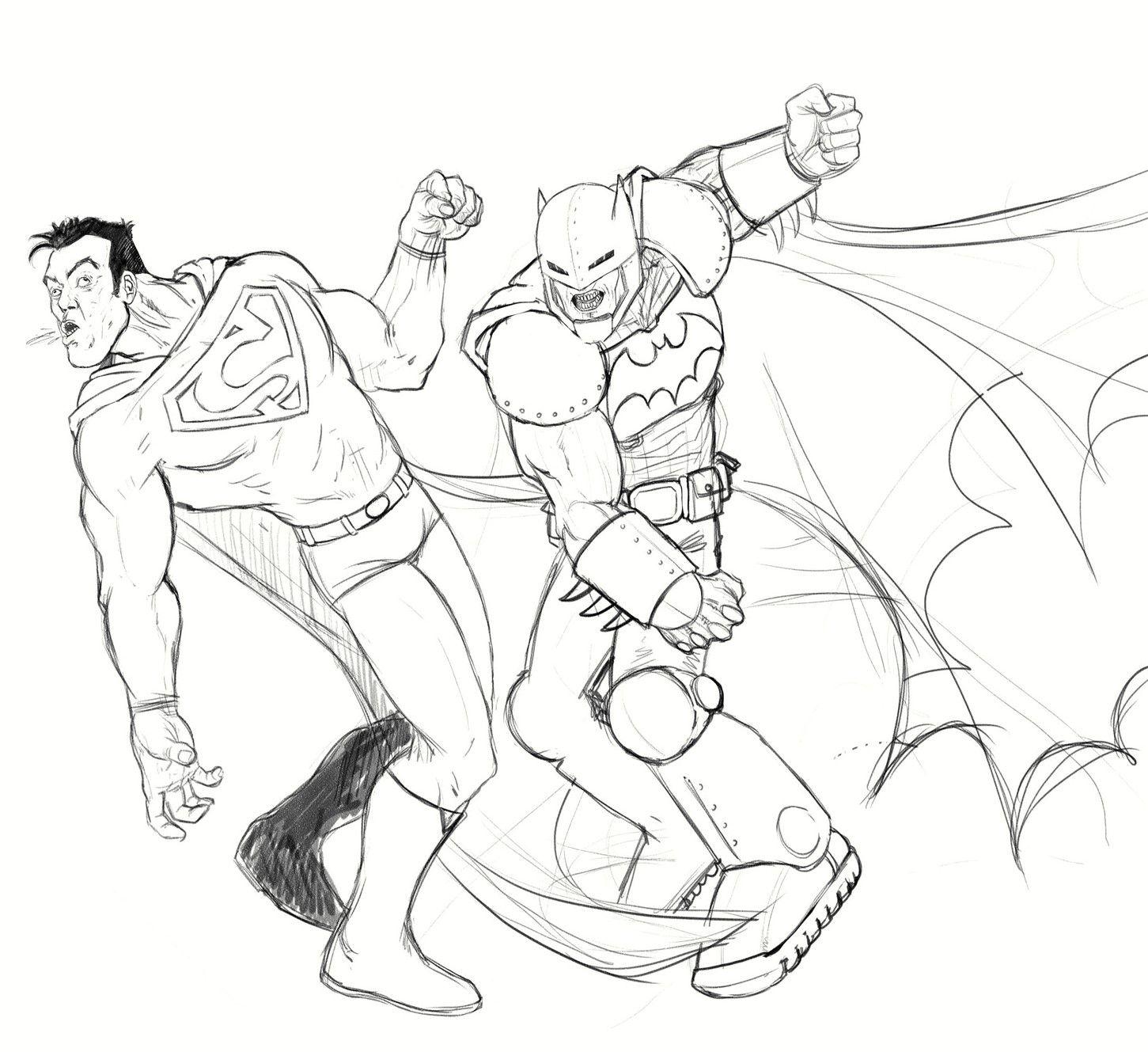 Batman V Superman Colouring Pages Superman Coloring Pages Avengers Coloring Pages Batman And Superman