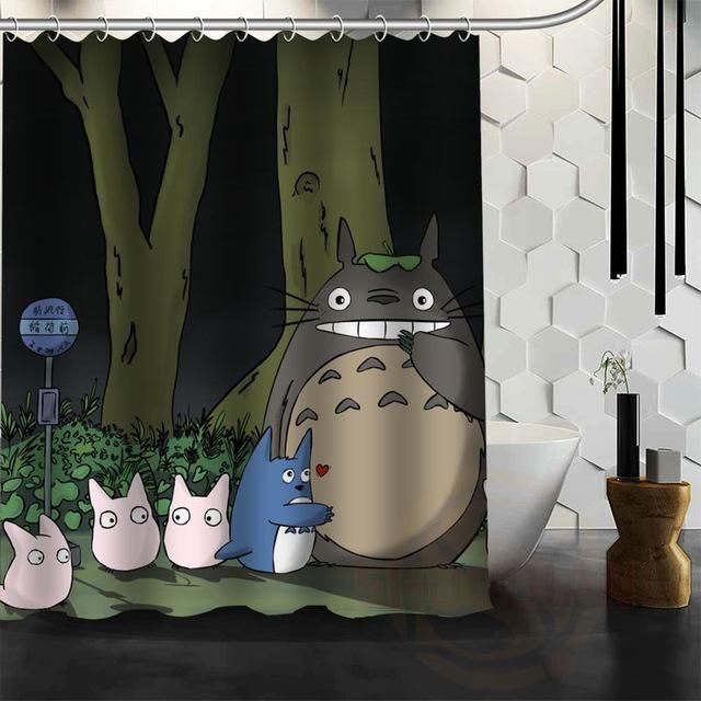 New All Studio Ghibli Character Totoro Custom Shower Curtain Cartoons Bathroom Decor Spirited Away Bath