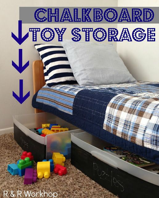 Diy Chalkboard Storage Bins For Under The Bed Storage