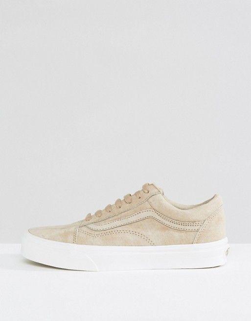 7962a8b486f6 Vans Premium Suede Old Skool Sneakers In Beige