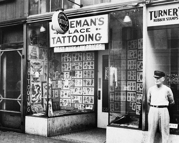 The Legendary August Cap Colemans Tattoo Parlor In Norfolk Virginia
