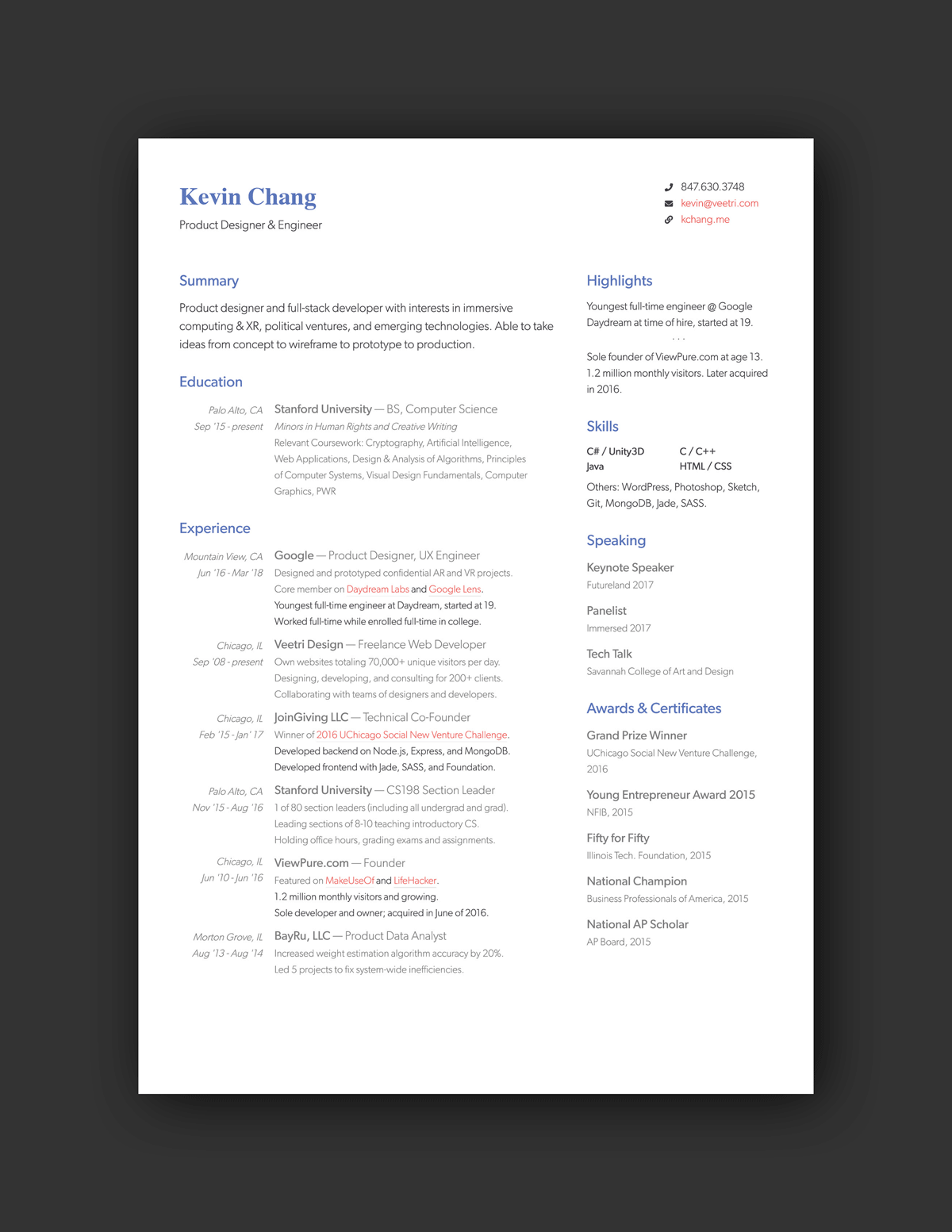 21 Inspiring Ux Designer Resumes And Why They Work Resume Design Resume Ux Design