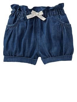 Denim bubble shorts