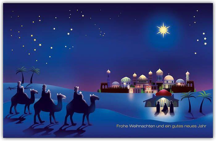 christliche weihnachtskarte mit hl drei k nigen in der heiligen nacht weihnachtskarten