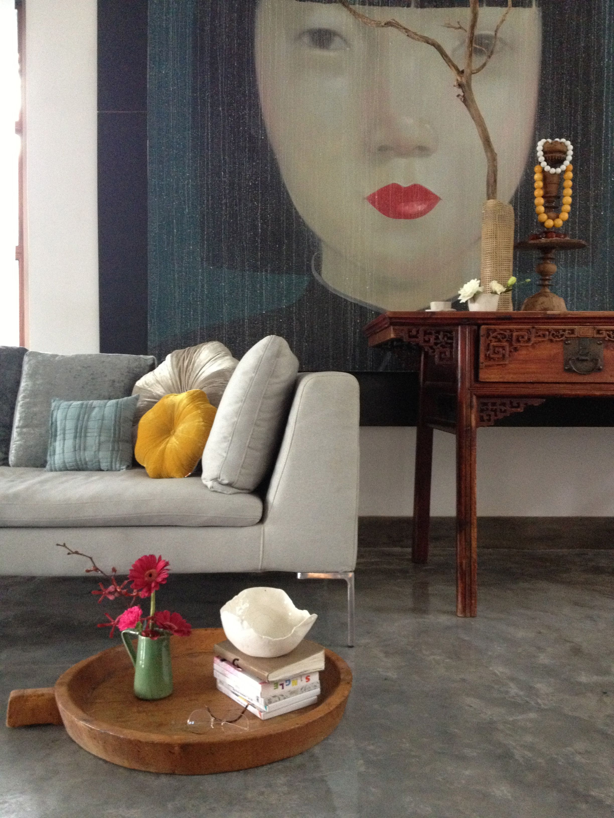 Thai Wohnzimmer My Home For Photoshoot Wallpaper Magazine Painting From