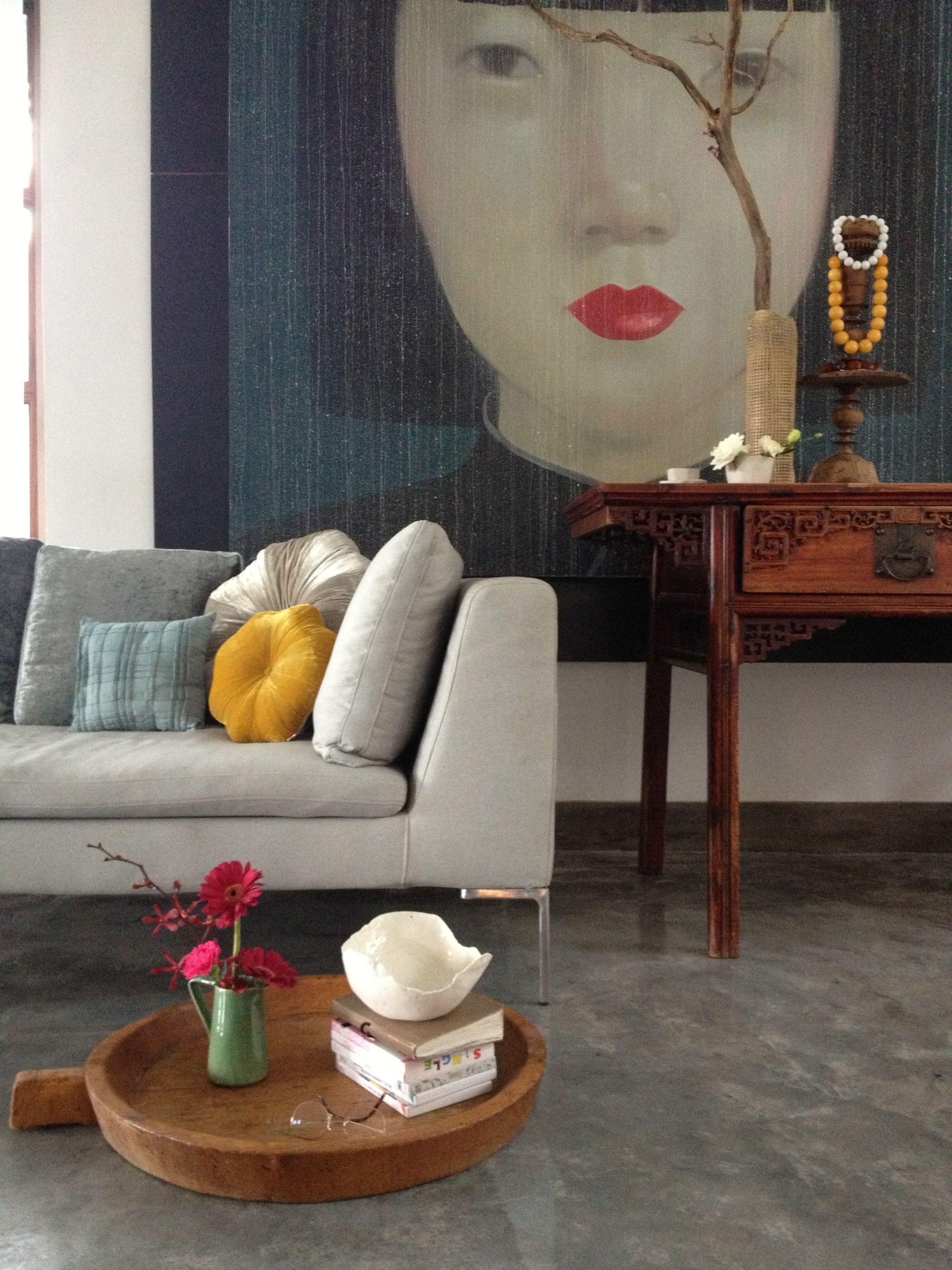 My home for photoshoot wallpaper magazine painting from thai artist attasit wohnideen - Asiatische wohnideen ...