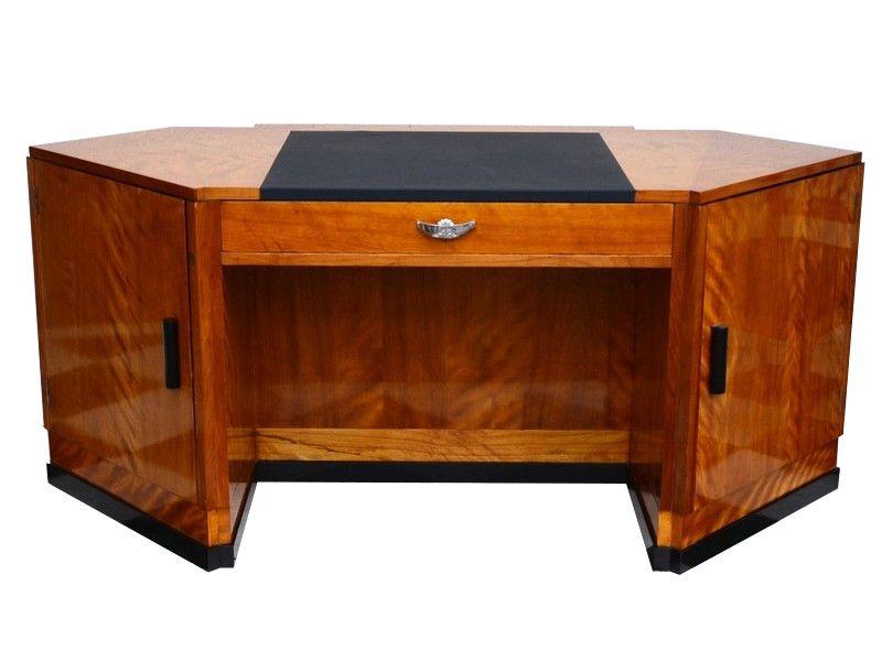 Art Deco, antik, original, selten, Tisch, Schreibtisch, Hochglanz ...