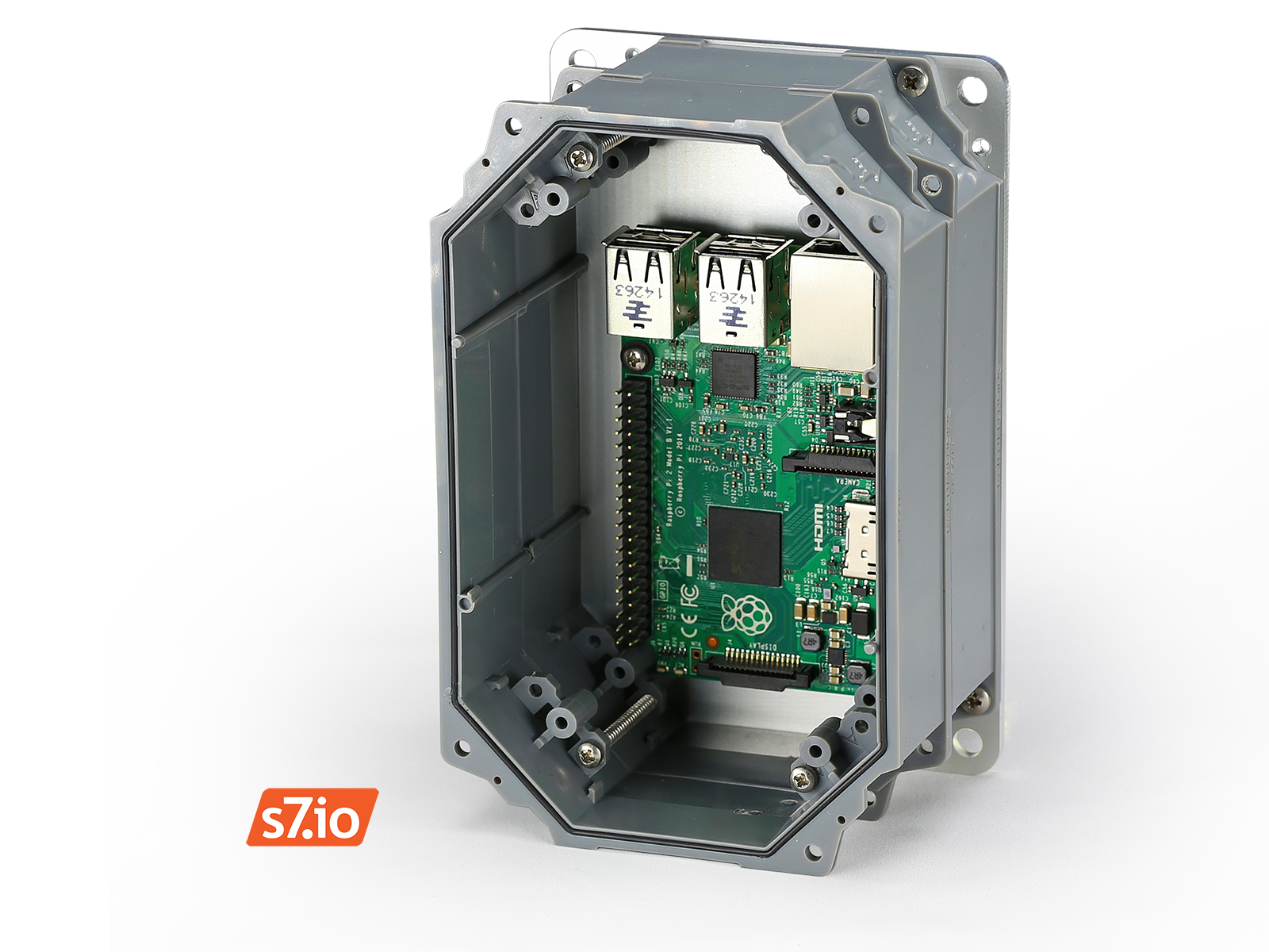 Rubicon Enclosure For Raspberry Pi May Be Stacked 2x Without Loss Of Ip67 Rating